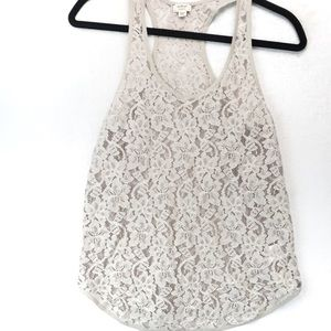 Wilfred aritizia lace racer back tank top